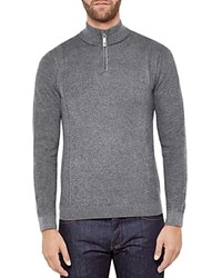 Ted Baker Pinball Funnel Neck Sweater Gray Marl