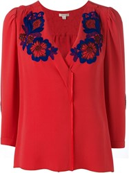 Marc Jacobs Embroidered Flower Blouse
