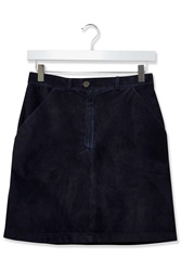 Suede Pocket Skirt By Boutique Navy Blue