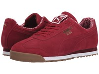 Puma Roma Suede Paisley Biking Red Team Gold Men's Shoes