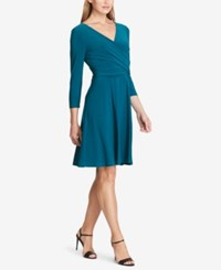 American Living Ruched Jersey Dress Teal