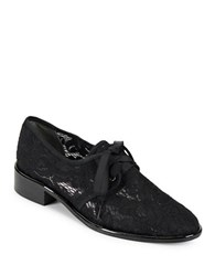 Adrianna Papell Paisley Floral Lace Oxfords Black