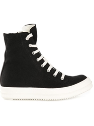 Rick Owens Drkshdw High Top Lace Up Sneakers Black