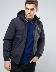 Fred Perry Brentham Jacket Hooded Insulated In Navy Navy