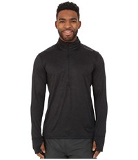 Brooks Dash 1 2 Zip Heather Black Men's Long Sleeve Pullover