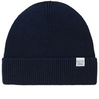 Norse Projects Cotton Watch Beanie Blue