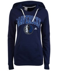 Adidas Women's Dallas Mavericks Mesh Arch Hooded Sweatshirt Navy
