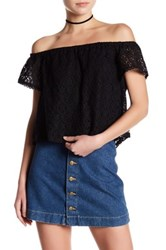 Lush Crochet Lace Blouse Black