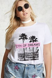 Forever 21 Plus Size City Of Dreams Tee White Black