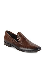 Jo Ghost Woven Leather Loafers Brown