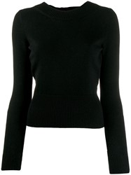 Alexander Mcqueen Tie Back Knit Jumper Black