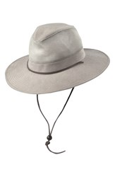 Men's Dorfman Pacific Brushed Twill Safari Hat Brown Khaki