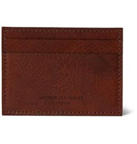 George Cleverley 1786 Russian Hide Cross Grain Leather Cardholder Brown