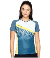 Pearl Izumi Launch Jersey Blue Steel Skylight Fracture Women's Clothing