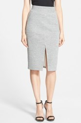 Cameo 'Counting Stars' Knit Midi Skirt Juniors Gray