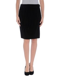 Pauw Knee Length Skirts Black