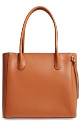 Lodis Cecily Leather Tote Brown Toffee