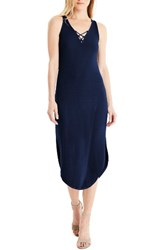 Michael Stars Women's Front To Back Midi Dress Nocturnal