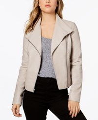 Marc New York Felix Asymmetrical Leather Moto Jacket Cement