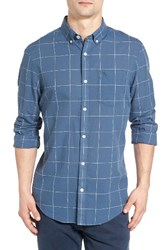 Original Penguin Men's Lawn Trim Fit Windowpane Plaid Shirt