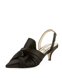 N 21 Knotted Satin Slingback Pumps Black