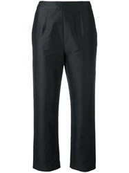 Isa Arfen Cropped Tailored Trousers Black