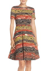 Women's Eci Print Knit Fit And Flare Dress