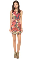 Haute Hippie Side Gathered Dress Multi