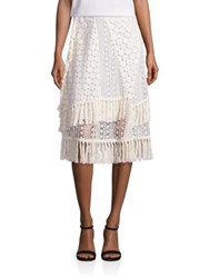See By Chloe Crochet And Lace Skirt Off White