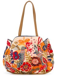 Jamin Puech Embroidered Tote Women Leather Viscose One Size