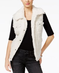 Guess Stephanie Faux Fur Vest Scuffy Multi
