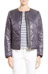 Burberry Women's Dovecote Quilted Tech Jacket Charcoal