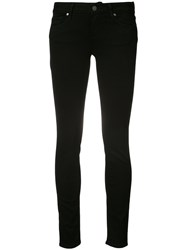 Paige Hoxton Mid Rise Skinny Jeans Women Cotton Polyester Spandex Elastane Rayon 27 Black