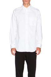 Engineered Garments 19 Century Cambridge Oxford Button Up In White