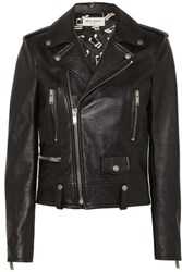 Saint Laurent Leather Biker Jacket Black