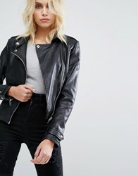 Barney's Originals Biker Jacket Black