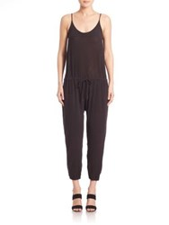 Stateside Bubble Gauze Jumpsuit Black