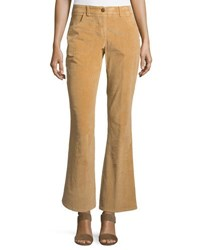 Nanette Nanette Lepore Four Pocket Corduroy Boot Cut Pants Beige