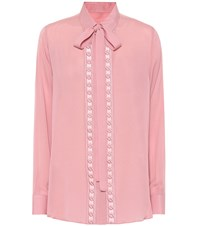 Elie Saab Cotton And Silk Blend Shirt Pink