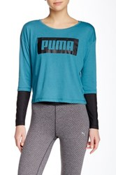 Puma Long Sleeve Tee Blue