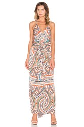 T Bags Losangeles Twist Front Maxi Dress Ivory