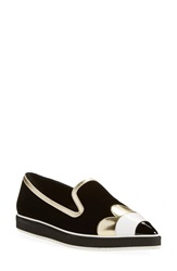 Nicholas Kirkwood 'Polly Petal' Pointy Toe Loafer Women Black Velvet