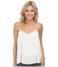 Volcom Straight Laced Cami Top Cream Women's Sleeveless Beige