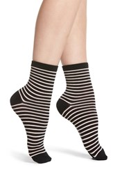 Richer Poorer Skimmer Stripe Socks Black Pink