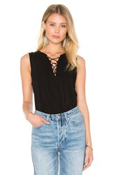 Velvet By Graham And Spencer Leonna Rayon Challis V Neck Tank Black