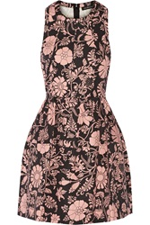 Jill Stuart Aydan Floral Print Cotton And Linen Blend Mini Dress