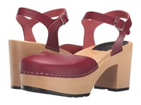Swedish Hasbeens Krillan Wine Red High Heels