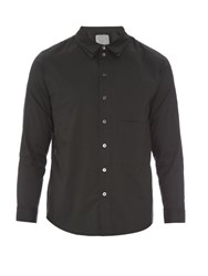 By Walid Ben Patch Pocket Cotton Shirt Black