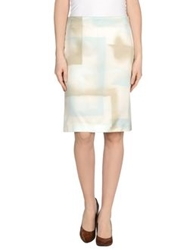 J's Exte' Knee Length Skirts Sky Blue