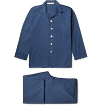 Cleverly Laundry Washed Cotton Pyjama Set Navy
